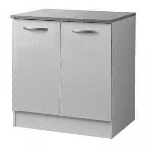 Paris prix meuble bas 2 portes 80cm smarty blanc for Meuble a bas prix chateauguay