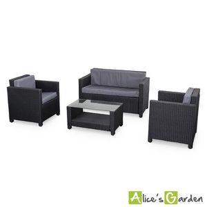 salon de jardin achat vente salon de jardin pas cher soldes cdiscount. Black Bedroom Furniture Sets. Home Design Ideas