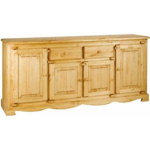 Enfilade en bois massif achat vente enfilade en bois - Meuble bas 4 portes ...