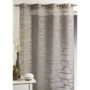 double rideaux noir et blanc achat vente double rideaux noir et blanc pas cher soldes. Black Bedroom Furniture Sets. Home Design Ideas