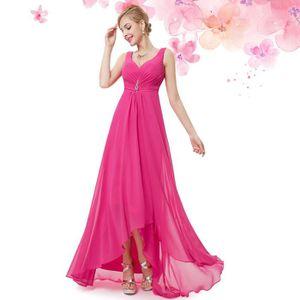 ROBE DE CÉRÉMONIE Robe de soirée longue sexy rose drapée