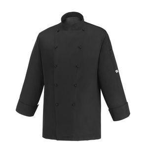 veste de cuisine noir achat vente veste de cuisine noir pas cher cdiscount. Black Bedroom Furniture Sets. Home Design Ideas
