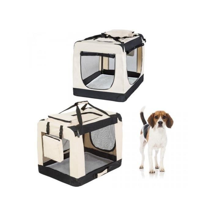 caisse cage de transport chien mobile pliante xl 80x55x58. Black Bedroom Furniture Sets. Home Design Ideas