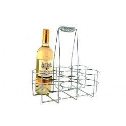 porte bouteilles panier x 6 chrom achat vente range. Black Bedroom Furniture Sets. Home Design Ideas