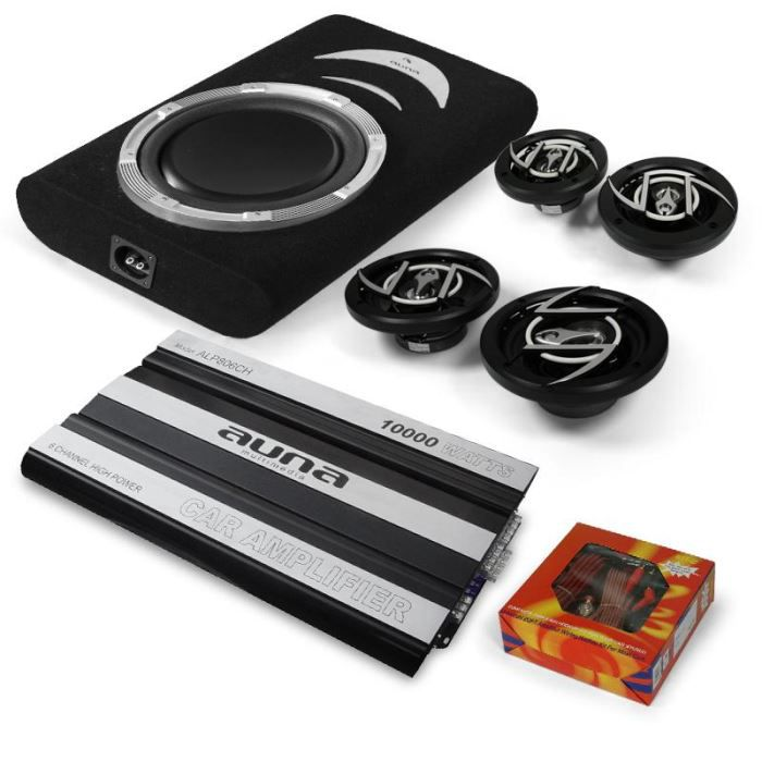set voiture 4 1 suzuka ampli auto sub plat 12 pack. Black Bedroom Furniture Sets. Home Design Ideas