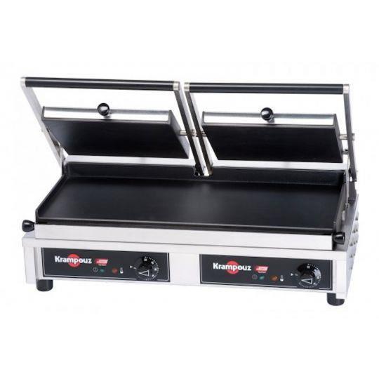 Double grill panini lisse krampouz achat vente grille - Sachet cuisson croque monsieur grille pain ...