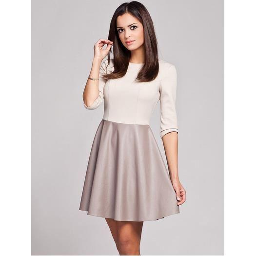 robe vas e bas effet cuir beige achat vente robe robe vas e bas effet cuir cdiscount. Black Bedroom Furniture Sets. Home Design Ideas