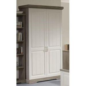 armoire 2 portes 120 cm achat vente armoire 2 portes. Black Bedroom Furniture Sets. Home Design Ideas