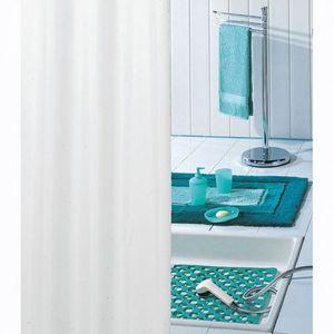 RIDEAU DE DOUCHE Rideau de douche - PVC - uni blanc - 180x200 cm