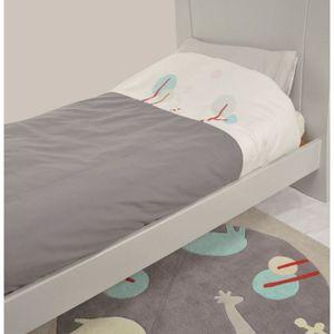 candide parure de lit taie housse de couette gris et blanc achat vente parure de lit b b. Black Bedroom Furniture Sets. Home Design Ideas
