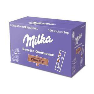 CONFISERIE DE CHOCOLAT Milka, Recette onctueuse chocolat, 100 sticks de 2