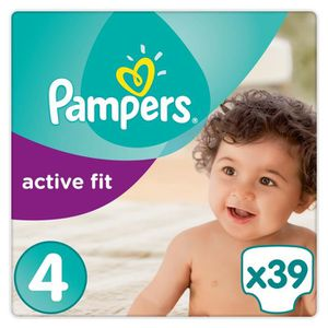 COUCHE PAMPERS Active Fit Taille 4 - 8 à 16kg - 39 couche