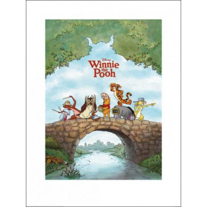 Winnie l 39 ourson poster reproduction and friends 80 x 60 for Decoration murale winnie l ourson
