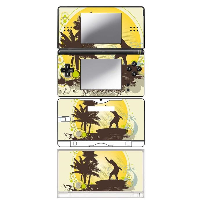 skin stickers pour nintendo ds lite sticker surfing time achat vente protection ecran. Black Bedroom Furniture Sets. Home Design Ideas