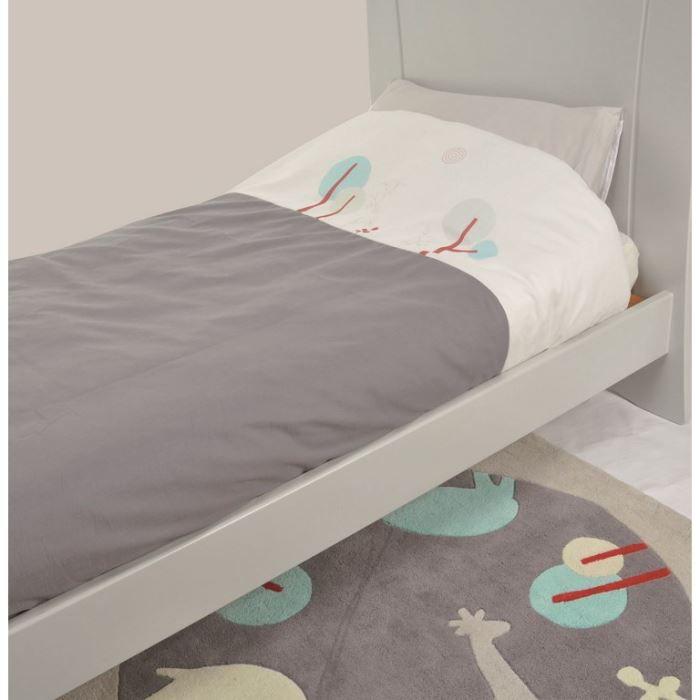 candide parure de lit taie housse de couette gris et. Black Bedroom Furniture Sets. Home Design Ideas