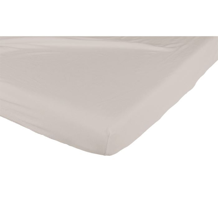 Candide drap housse jersey coton 60x120 cm taupe taupe for Drap housse 60x120