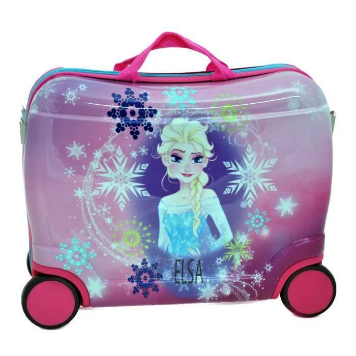 petite valise trotteur enfant la reine des neiges rose achat vente valise bagage. Black Bedroom Furniture Sets. Home Design Ideas