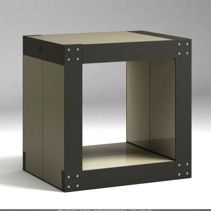Table d 39 appoint noire olive achat vente table d - Table d appoint noire ...