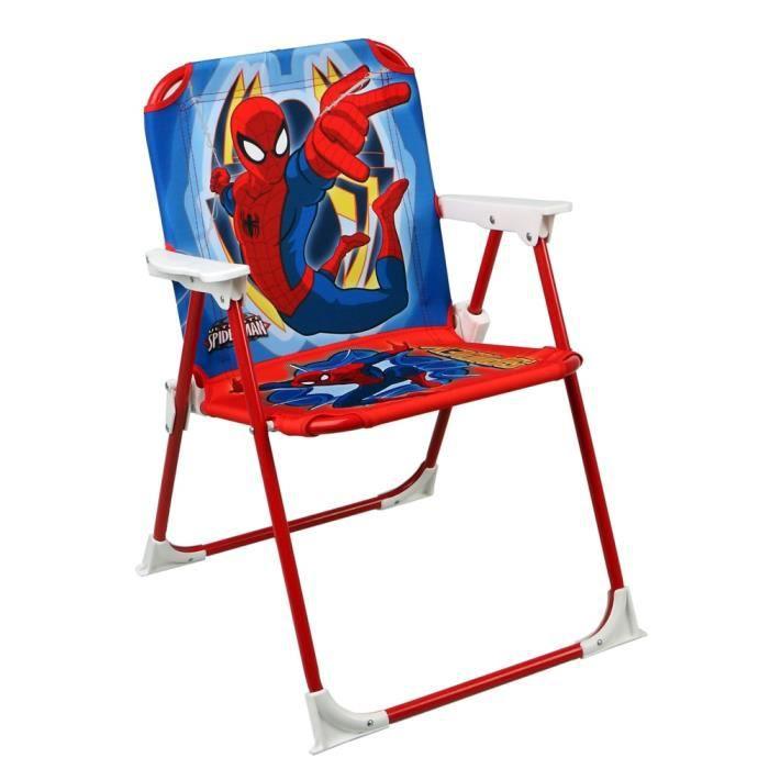 chaise pliable pour enfant spiderman achat vente fauteuil jardin chaise pliable pour enfant. Black Bedroom Furniture Sets. Home Design Ideas