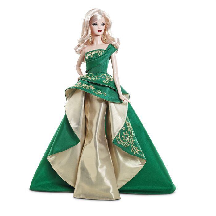 Barbie joyeux no l 2011 meraude et or achat vente poup e cdiscount - Barbie de noel 2012 ...
