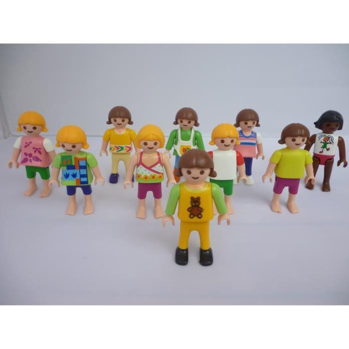 playmobil lot de 10 enfants 50 mm achat vente figurine. Black Bedroom Furniture Sets. Home Design Ideas