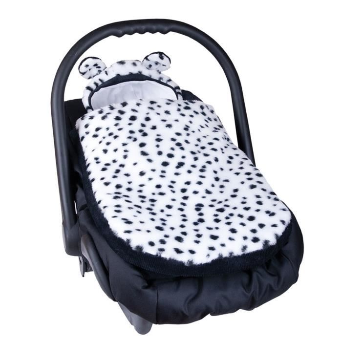 couverture chanceli re pour si ge auto ou poussette dalmatien achat vente chanceli re. Black Bedroom Furniture Sets. Home Design Ideas
