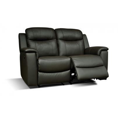 Canap 2 places relax evasion en cuir noir achat for Canape cuir noir 2 places