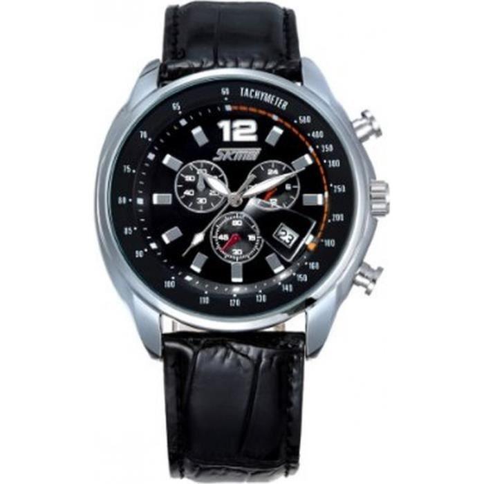 miniblue 31w32152001ske montre homme analogique digitale bracelet cuir achat vente montre. Black Bedroom Furniture Sets. Home Design Ideas