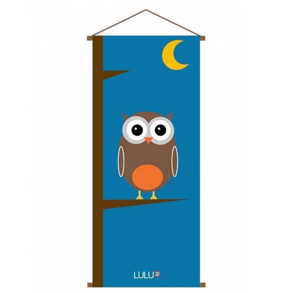 kak mono co con u trop chouette lulu 22 achat vente plaque de porte lettre decorative. Black Bedroom Furniture Sets. Home Design Ideas