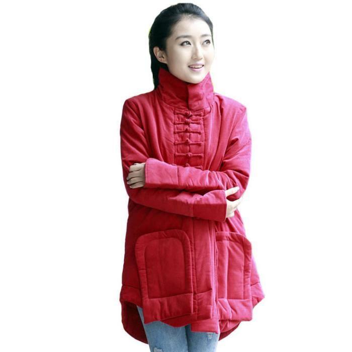 manteau ethnique rouge pour femme rouge achat vente. Black Bedroom Furniture Sets. Home Design Ideas