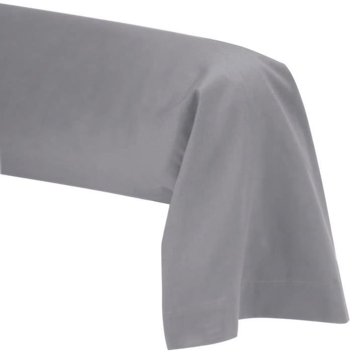 taie de traversin 45x185 polycoton 57 fils gris achat vente taie d 39 oreiller cdiscount. Black Bedroom Furniture Sets. Home Design Ideas