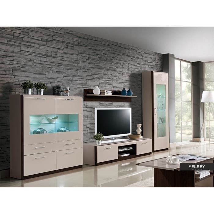 Meuble tv vega 180 cm achat vente meuble tv meuble tv for Meuble tv mural 180 cm