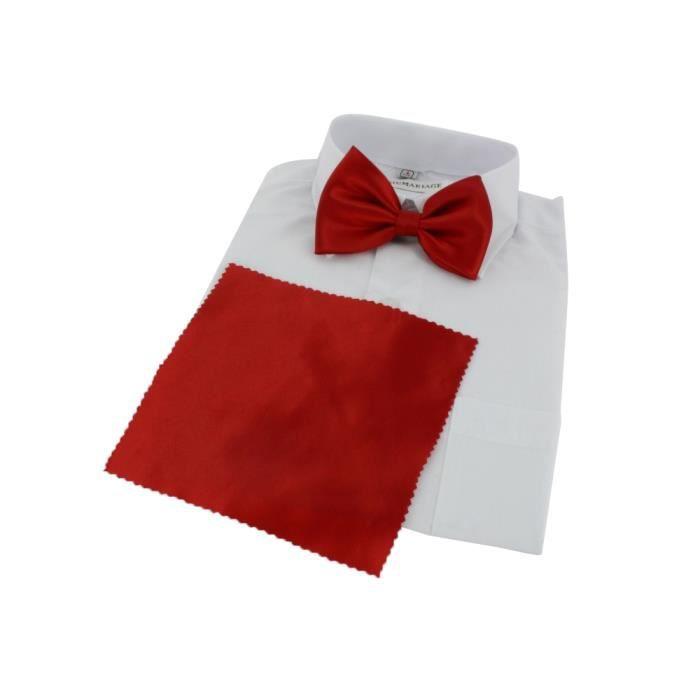 Noeud papillon enfant avec pochette rouge t achat - Noeud papillon rouge enfant ...
