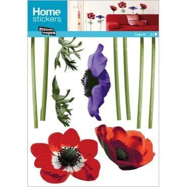 Stickers muraux adhesif mural xxl anemones multi achat - Decoration stickers muraux adhesif ...
