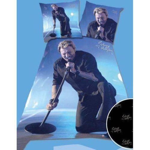 parure de couette johnny halliday lit 1 place achat vente parure de couette cdiscount. Black Bedroom Furniture Sets. Home Design Ideas