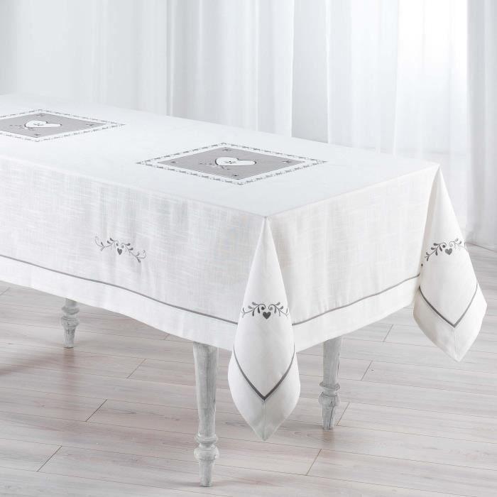Nappe brod e pas cher table de cuisine - Nappe de table rectangulaire pas cher ...