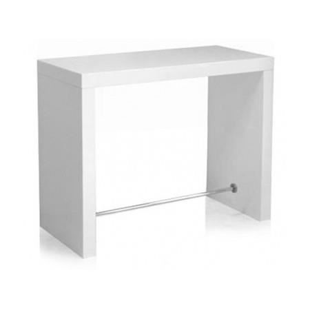 Table de bar blanc laqu tyson achat vente mange debout table de bar blan - Table bar blanc laque ...