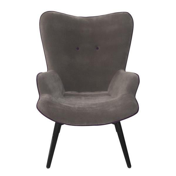 Fauteuil arti gris et violet achat vente fauteuil velours m tal cdiscount - Fauteuil cabriolet violet ...