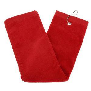 PEIGNOIR Golf coton serviette Drap de sport (rouge)