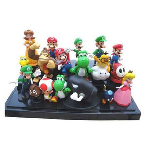 """ACCESSOIRE DE FIGURINE 18pcs Set 1-3"""" Super Mario Bros Figure Toy Doll Pv"""