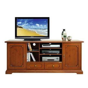 meuble tv merisier achat vente meuble tv merisier pas cher les soldes sur cdiscount. Black Bedroom Furniture Sets. Home Design Ideas
