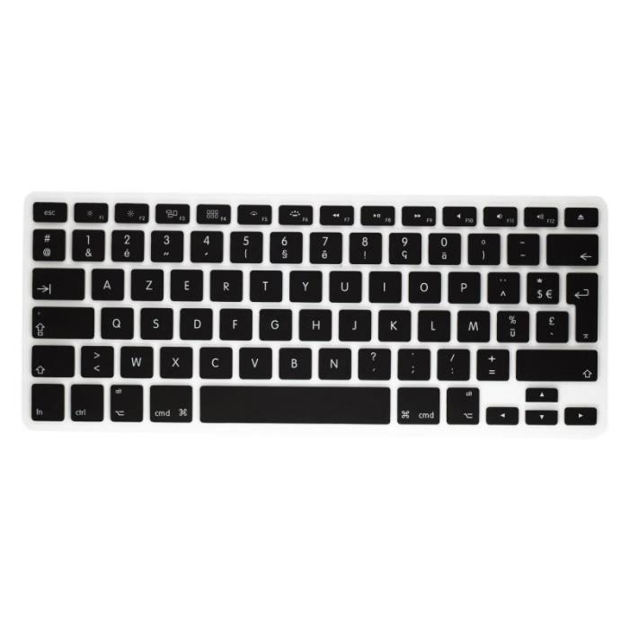 pour clavier sans fil d 39 apple azerty protection prot ge clavier silicone noir prix pas cher. Black Bedroom Furniture Sets. Home Design Ideas