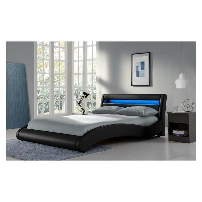 lit black surf 140x200 sommier achat vente lit complet lit black surf 140x200 som cdiscount. Black Bedroom Furniture Sets. Home Design Ideas