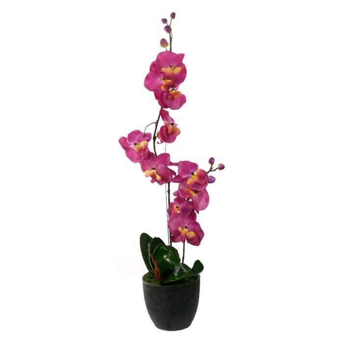 orchidee en pot fleur artificielle rose achat vente fleur artificielle textile plastique. Black Bedroom Furniture Sets. Home Design Ideas