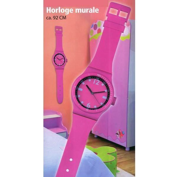 Horloge murale montre rose achat vente horloge horloge - Horloge murale geante design ...