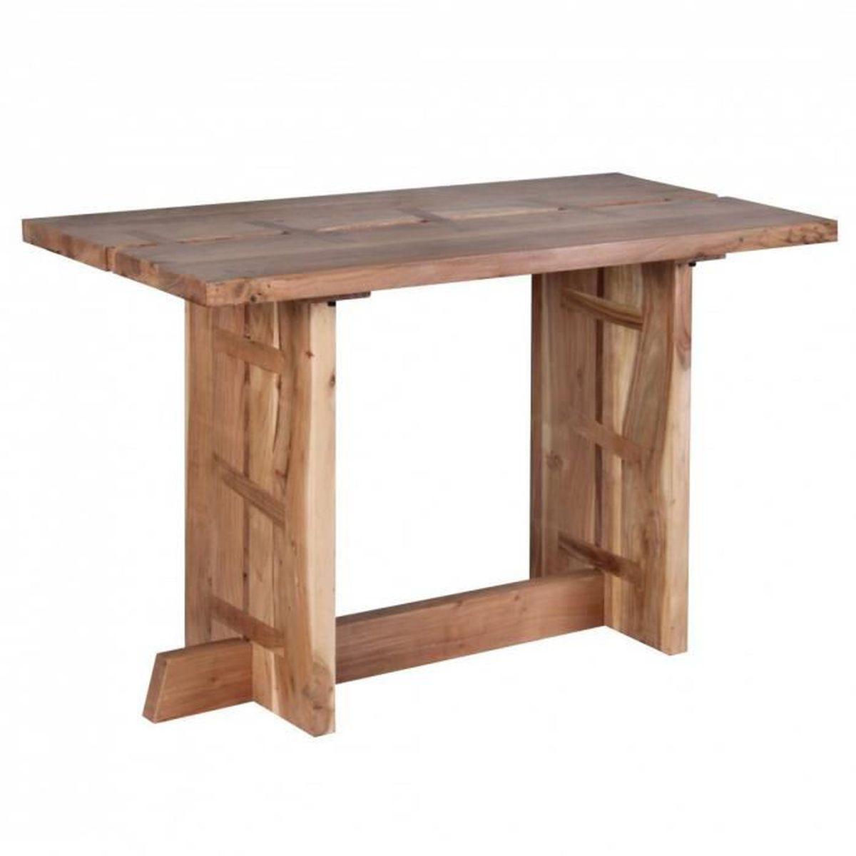 Table manger solide acacia bois 120cm table manger for Table a manger 120 cm