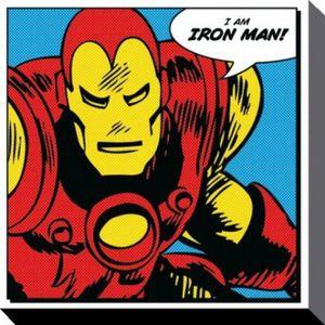 Toile iron man achat vente toile iron man pas cher for Poster sur toile