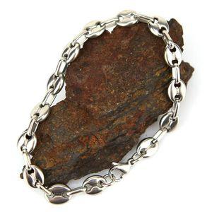 BRACELET - GOURMETTE Bracelet maillons grains de café acier homme BRSG8