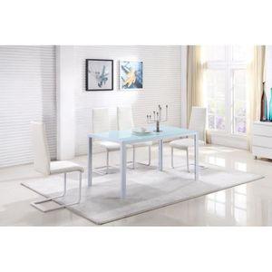 TABLE DE CUISINE  Superbe table à manger / 6 personnes, coul. Blanc