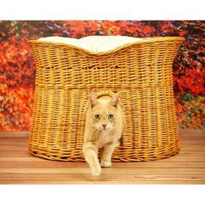 Panier osier chat achat vente panier osier chat pas cher cdiscount - Panier osier couleur ...